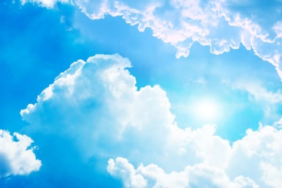 A sunny day with clouds that could power a solar-powered flagpole light