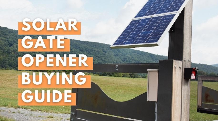 Solar gate opener