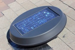 the best solar attic fan of 2020 on a roof