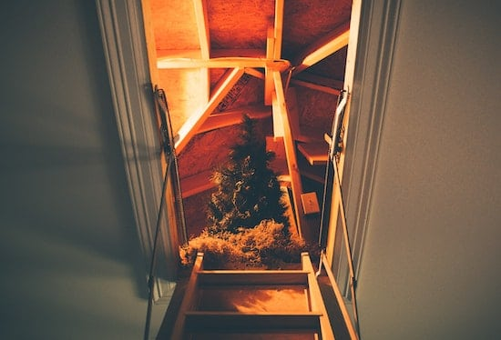 Solar Attic Fan Reviews to help cool a hot attic with a Christmas Tree
