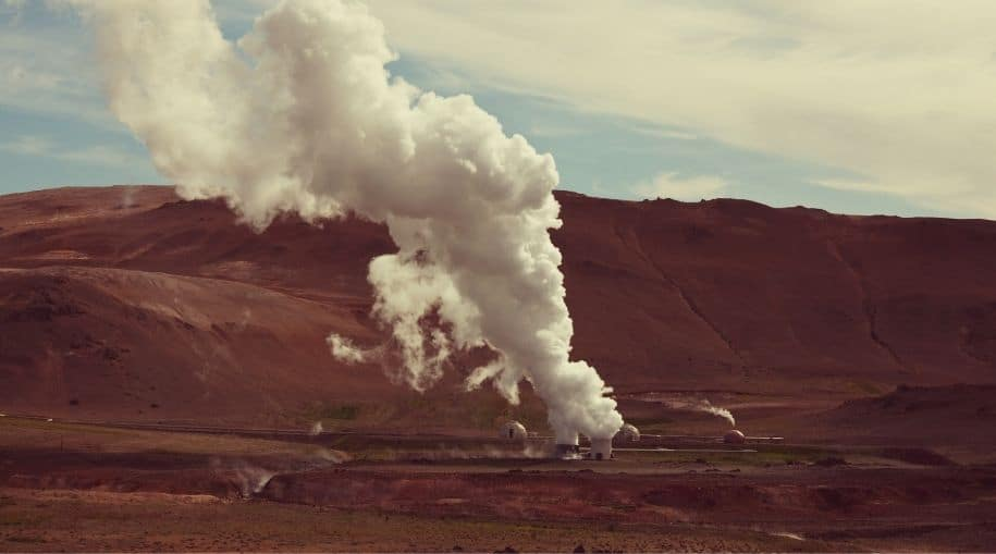 A geothermal energy plant