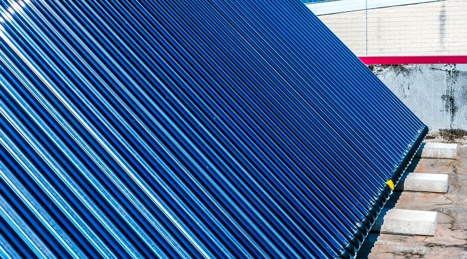 A close-up view of what Pool Solar Panel Installation looks like
