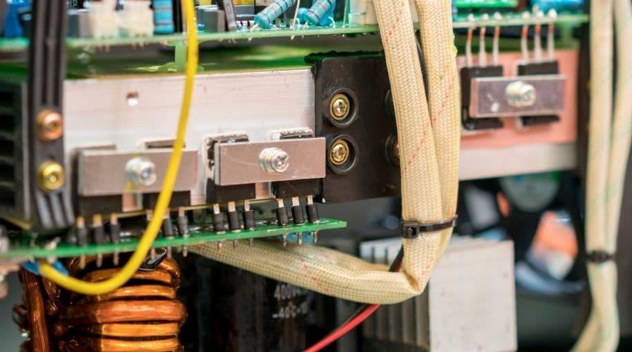 The inside of an inverter