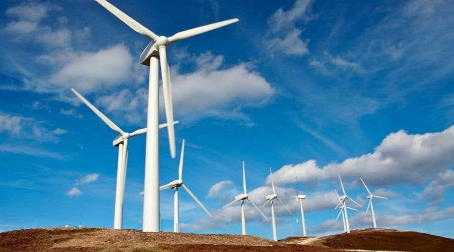 A hilltop that highlights the Pros And Cons Of Wind Energy