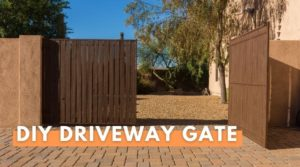 A DIY Driveway Gate with one side open