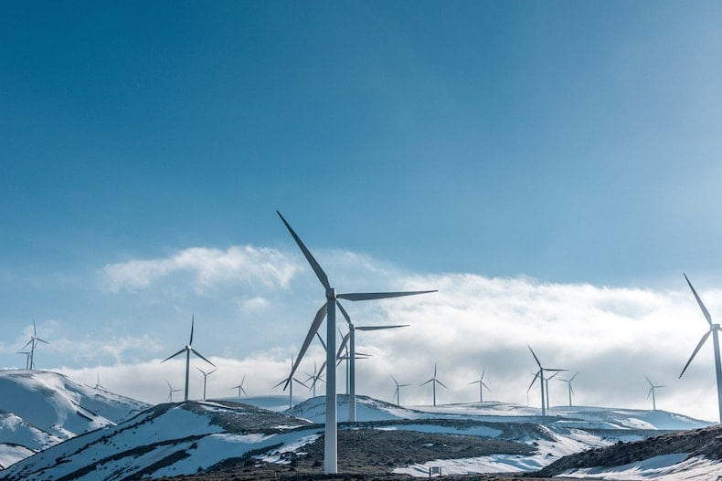 An image of a decentralized wind farm